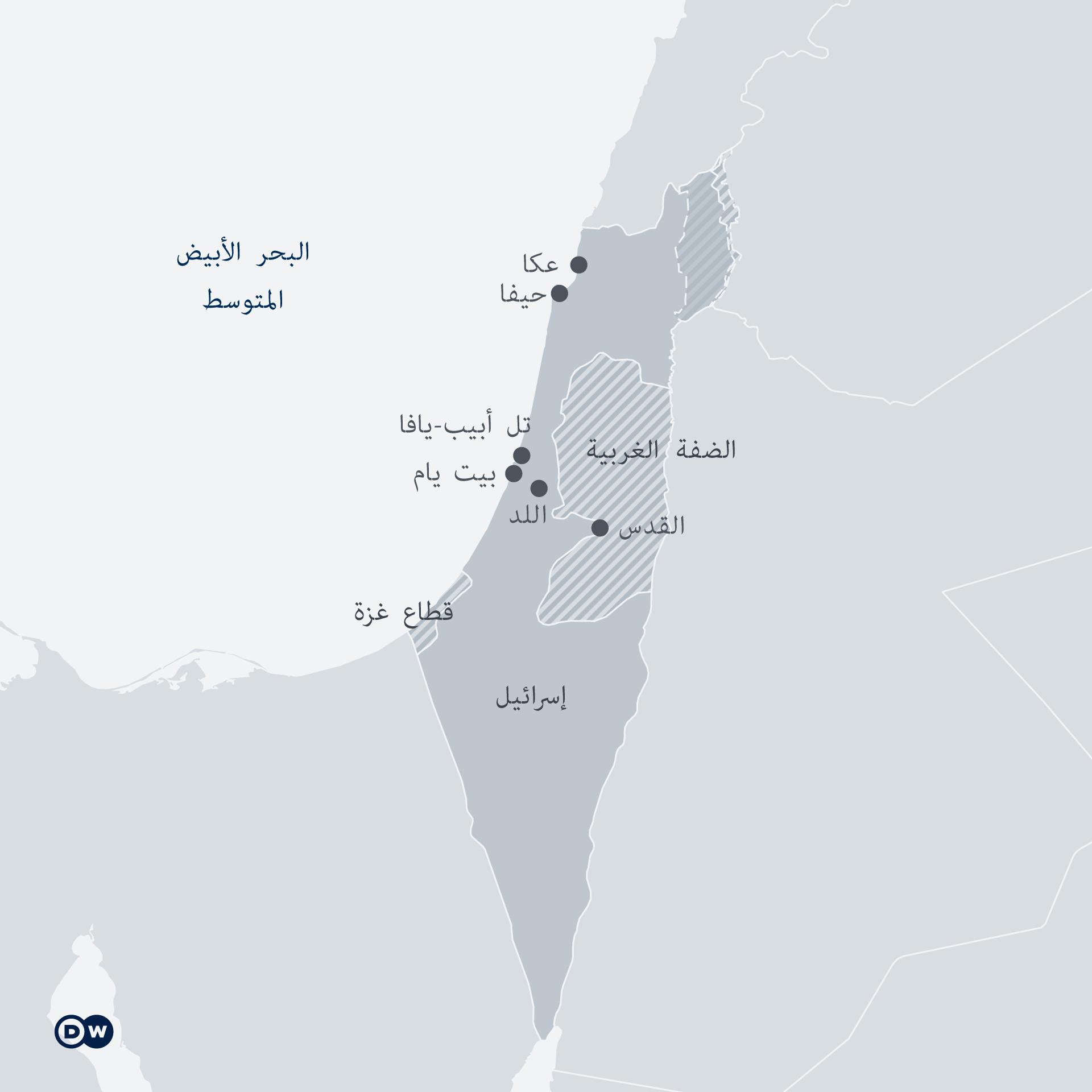Infografik Karte Israel Palästina AR