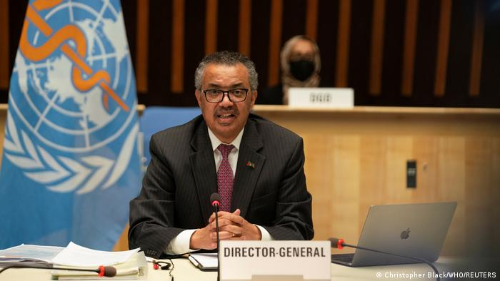 Schweiz Generaldirektor der Weltgesundheitsorganisation (WHO) Tedros Adhanom Ghebreyesus