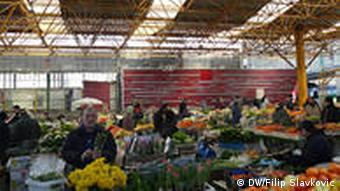 Market stalls filled with local produce
