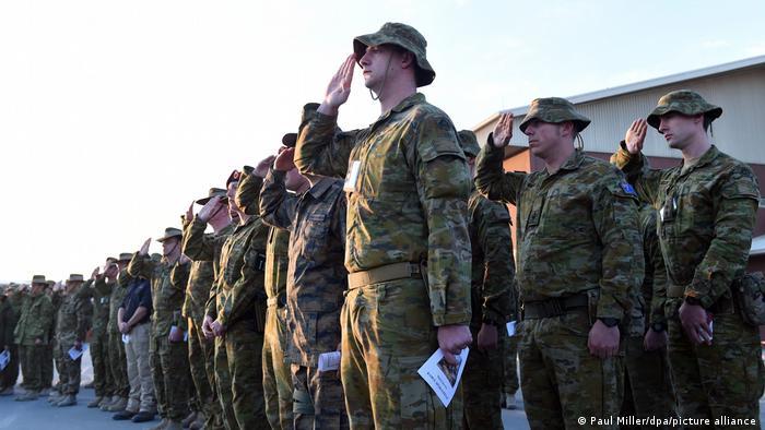 Foto de tropas australianas en Kabul