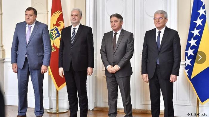 Krivokapić sa članovima Predsedništva BiH