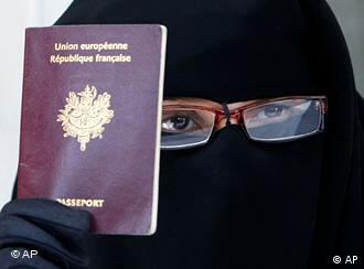 Covering your face in public in France will carry a fine of 150 euros