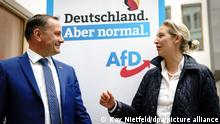 Deutschland Wahlkampf l AfD stellt Spitzenduo vor - Alice Weidel und Tino Chrupalla