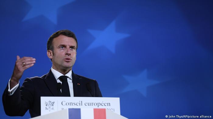 Belgien EU-Gipfel l Französischer Präsident Macron