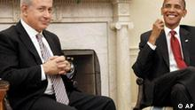Benjamin Netanyahu bei einem Treffen mit Barack Obama