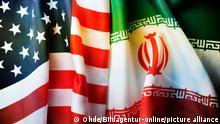Fahnen USA und Iran