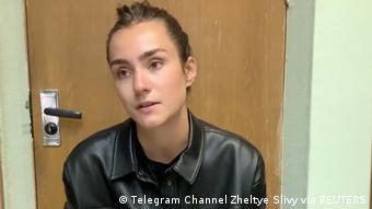 Кадр из видео белорусского провластного Telegram-канала Желтые сливы с Софьей Сапегой