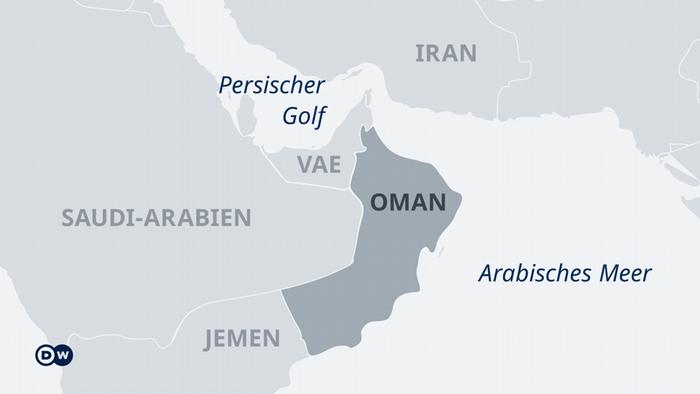 Infografik Karte Oman DE