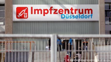 Centru de vaccinare din Germania