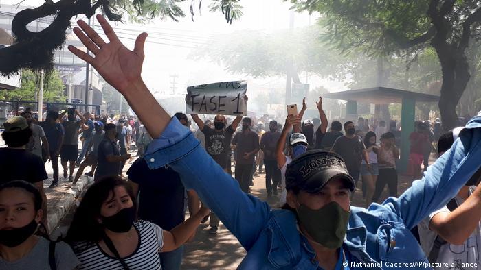 Proteste Lockdown im Provinz Formosa Argentinien