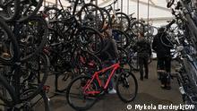 Fahrradgeschäft von Myhajlo Umanets, legaler Verkäufer in der Ukraine von gebrauchten Fahrrädern aus Deutschland.