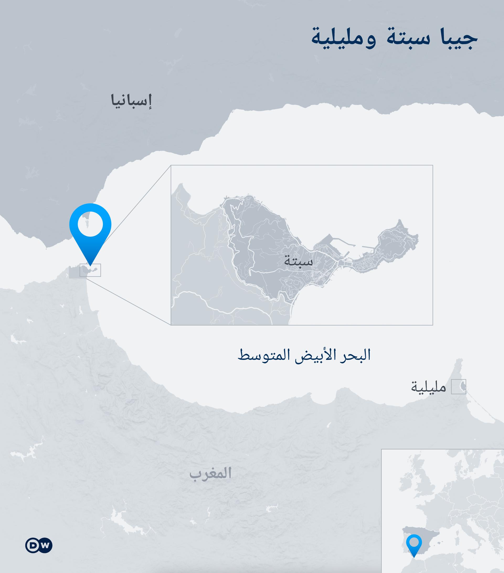 Infografik Karte Spanien Ceuta Melilla AR