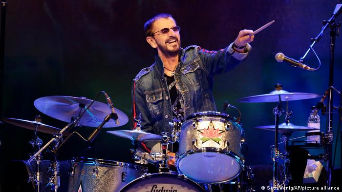 Ringo Starr with his drums.