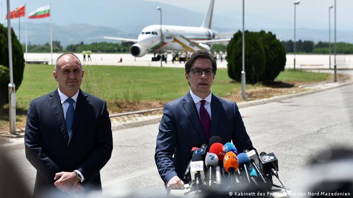 Mazedonien, Skopje | Präsidenten Stevo Pendarovski (Mazedonien) und Rumen Radev (Bulgarien)