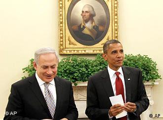 سران آمریکا و اسرائیل در برابر خبرنگاران
