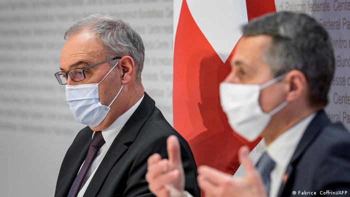 Schweiz EU l Bundespräsident Guy Parmelin und Außenminister Ignazio Cassis