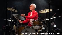 19.08.2019 SANTA CLARA, CALIFORNIA - AUGUST 18: Charlie Watts of The Rolling Stones performs at Levi's Stadium on August 18, 2019 in Santa Clara, California. CAP/MPIIS ©MPIIS/Capital Pictures