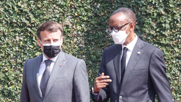 Kigali   Macron Besuch in Ruanda