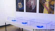 Kenia 2021, Leere Vitrinen Blick in die Ausstellung Invisible Inventories: Zur Kritik kenianischer Sammlungen in westlichen Museen Kenia, 2021