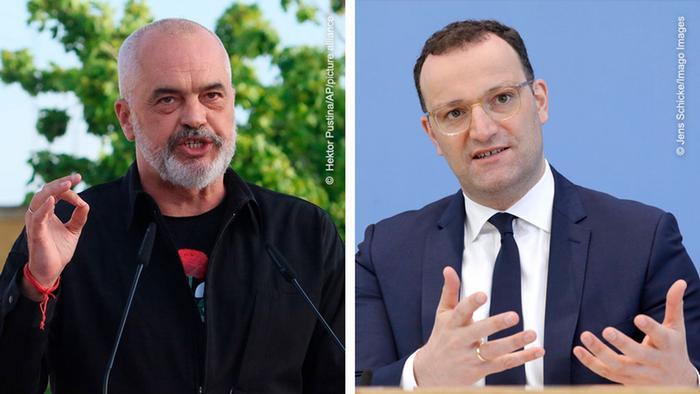 Deutschland Dabatte zwischen Edi Rama und Jens Spahn