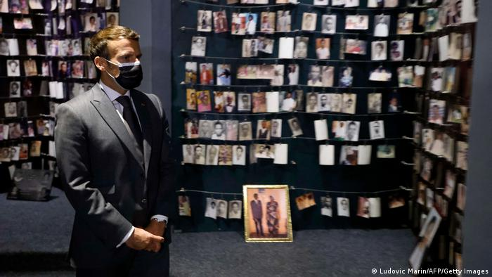 Ruanda   Emmanuel Macron in Kigali