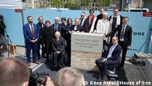 27.5.2021, Berlin, Deutschland, Grunsteinlegung für das House of One