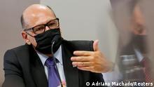 Brasilien Dimas Tadeu Covas in der Sitzung des Parlamentarischen Untersuchungsausschusses (CPI)