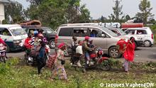 Sie sind heute von unserem Korri Jacques Vagheni zwischen Goma und Sake (im Osten der Demokratischen Republik Kongo) gemacht worden: Er und seine Familien mussten wegen des erneut drohenden Vulkanausbruchs vom Berg Nyiragongo evakuiert werden. via Sandrine Blanchard