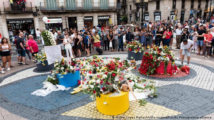 Spanien Andenken an den Opfern der Terroranschläge von Barcelona und Cambrils