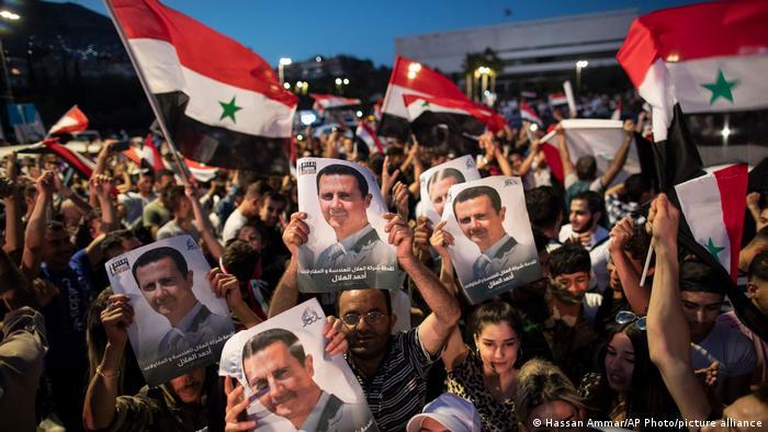 Ликование после выборов в Сирии