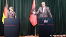 Minister of State for Europe, Michael Roth in the joint press conference with the Albania Prime Minister, Edi Rama. Author: Ani Ruci, shot on Thursday,May 27th, 2021 in Tirana.