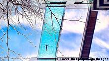 BdTD London | durchsichtiger Sky Pool zwischen zwei Hochhäusern