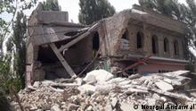 Afghanistan Baghlan   Von Taliban Niedergebrannte Häuser des Polizeikommandant Said Mohammad Tarakhil