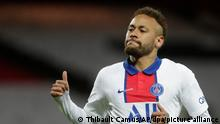 Fußball: Ligue 1, Frankreich, Stade Brest - Paris Saint-Germain, 38. Spieltag, im Stade Francis-Le Ble. Neymar von PSG reagiert während des Spiels. +++ dpa-Bildfunk +++