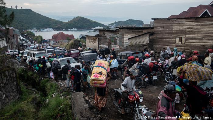 Bildergalerie | DR Congo | Ausbruch des Nyiragongo und Evakuierung von Goma