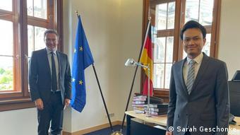 Berlin Reza Khasbullah und Christian Lindner