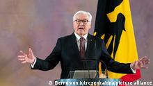 28/05/2021 Bundespräsident Frank-Walter Steinmeier äußert sich im Schloss Bellevue zu einer zweiten Amtszeit. Die Bundesversammlung hatte Steinmeier am 12.02.2017 mit einer Zustimmung von rund 75 Prozent zum 12. Bundespräsidenten gewählt. Am 22.03.2017 leistete er in einer gemeinsamen Sitzung von Bundestag und Bundesrat seinen Amtseid ab. +++ dpa-Bildfunk +++