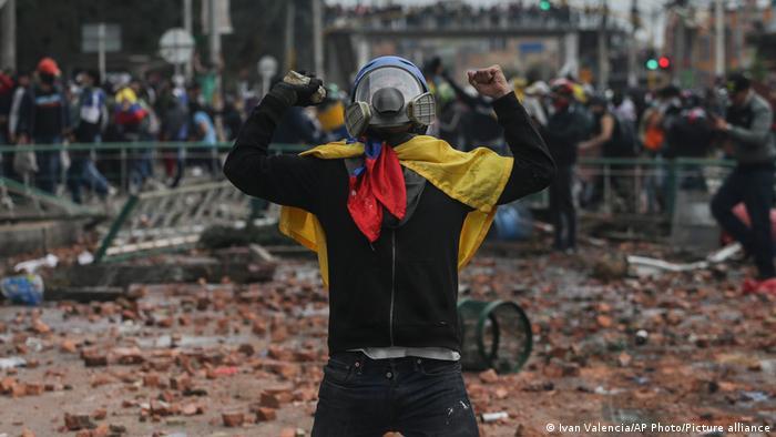 Protests in Bogota, Colombia