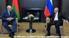 Russland Sotschi | Präsident Putin und Alexander Lukaschenko Belarus