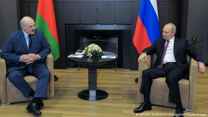 Александр Лукашенко и Владимир Путин в Сочи