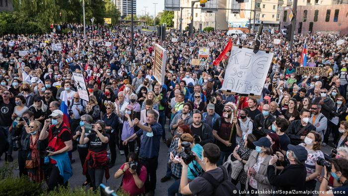 Slowenien Ljubljana | Proteste gegen Regierung
