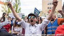 Slowenien Ljubljana   Proteste gegen Regierung