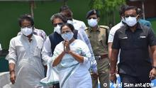 Super cyclone Yaas, with wind speed racing from 120-140 kmph, battered the country's eastern coast of West Bengal and Orissa on Wednesday, inflicting large scale damages to human habitats and farmlands. Place: West Bengal Chief Minister, Mamata Banerjee, visits the sundarban area after the flood.