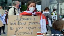 Berlin Solidaritätsaktion gegen Terror und Verfolgungen in Belarus