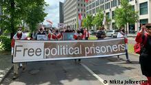 Demonstration der belarussischen Diaspora in Berlin am 29.05.2021 gegen Lukaschenko.