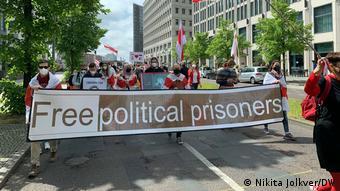 Deutschland   Protest gegen den belarussischen Präsidenten Lukaschenko