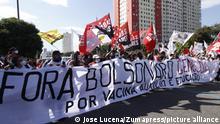 Brasilien Protest gegen brasilianischen Präsidenten Jair Bolsonaro