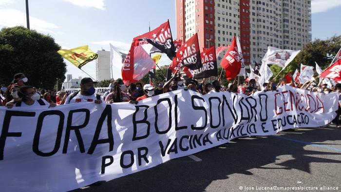 Miles de personas salen a las calles en Brasil para protestar contra Bolsonaro | Brasil en DW | DW | 29.05.2021