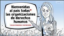 Karikatur von Vladdo, Diplomacia de emergencia. via Diego Zúñiga