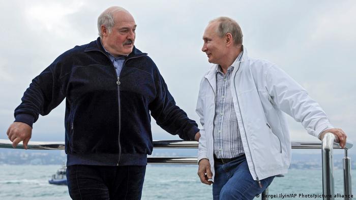 Путин и Лукашенко на борту яхты